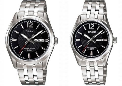 Купить Парные часы Casio Standard: MTP-1335D-1A и LTP-1335D-1A по доступной цене