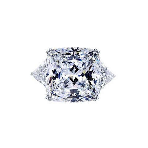 Кольцо из серебра с квадратным цирконом в стиле KoJewelry 4848