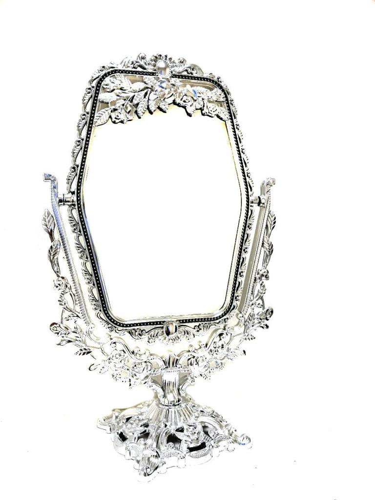 Двустороннее прямоугольное косметическое зеркало с увеличением Cosmetic Mirror арт. 209-10, 29х18 см