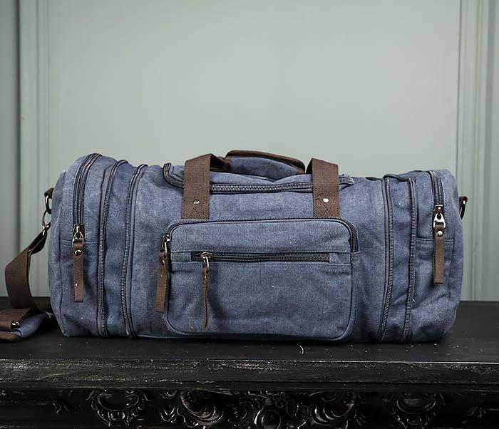 BAG477-3 Большая сумка для поездок синего цвета фото 01
