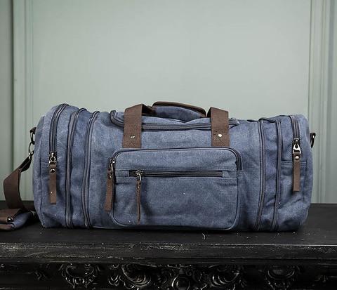 Большая сумка для поездок синего цвета
