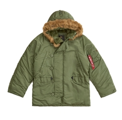 Парка Alpha Industries N-3B Regular Fit Sage Green (зеленая)
