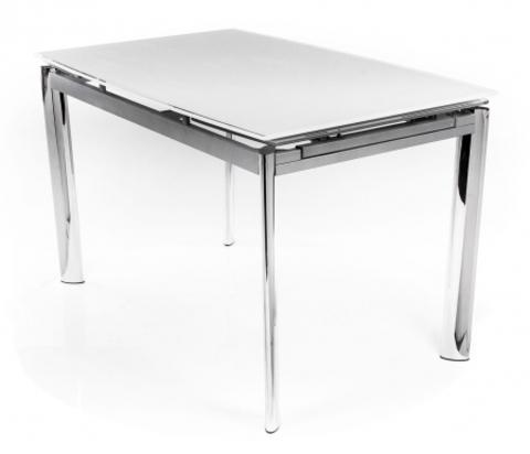 Стол обеденный S-302T раскладной стеклянный прямоугольный белый