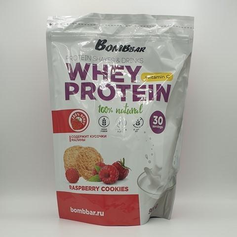 Сывороточный протеин + Vitamin C вкус Малиновое печенье BOMBBAR, 900 гр
