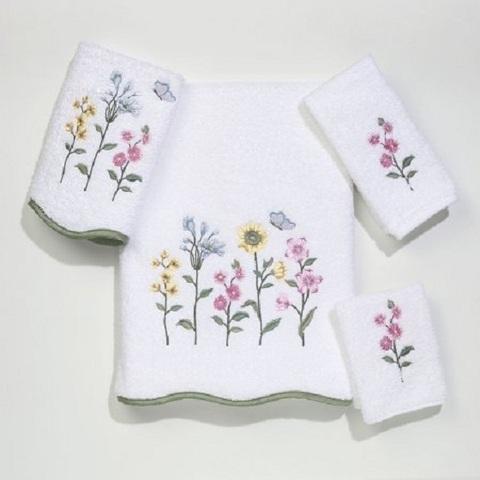 Полотенце 69х132 Avanti Country Floral белое