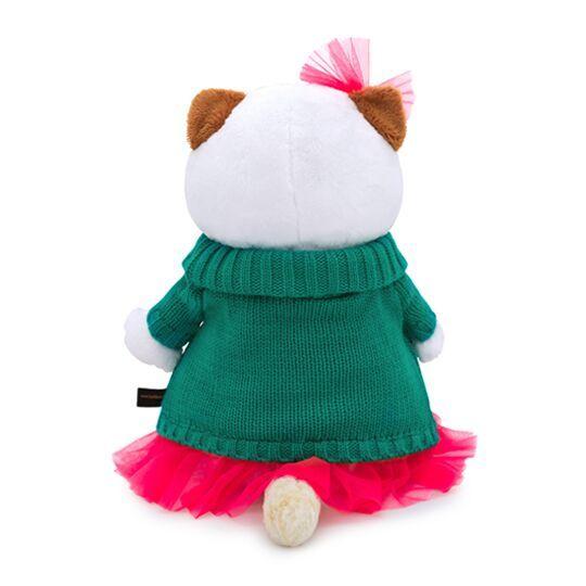 Кошечка Ли-Ли в зелёном вязаном платье