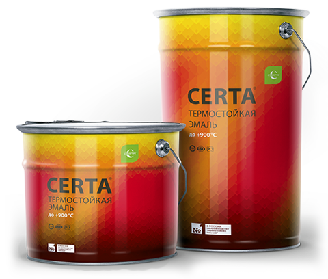 CERTA/ЦЕРТА Термостойкая эмаль 25 кг