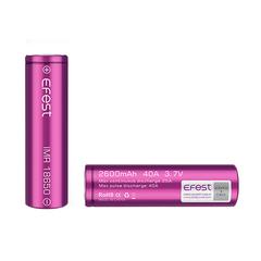 Аккумулятор 18650 Efest Li-Mn 3.7V, 2600mAh, 40A