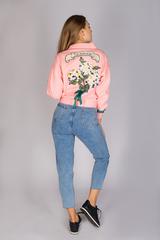 джинсовая куртка розовая женская недорого