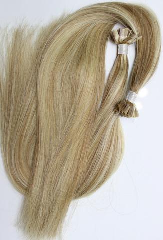 Волосы на плоских кератиновых капсулах,цвет 18-613( 2 КЛАСС)-50 СМ-25шт