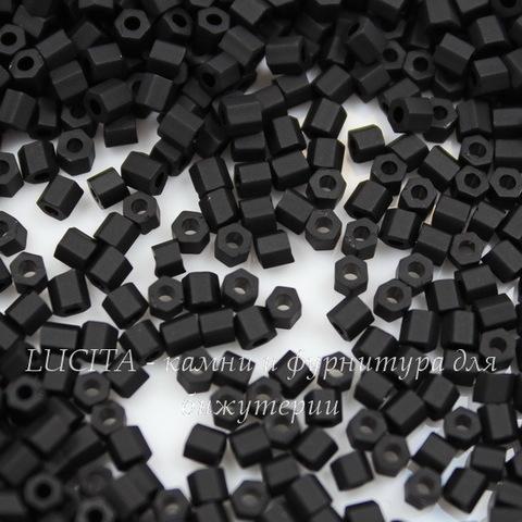 0049F Бисер японский TOHO Hexagon (шестиугольный) 11/0, черный матовый