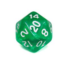Куб D20 прозрачный: Зеленый