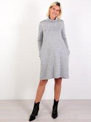 Евромама. Платье-трапеция трикотажное для беременных и кормящих, серый
