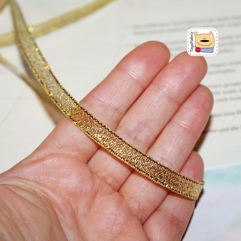 Лента металлизированная золотая 6мм ЛМ1