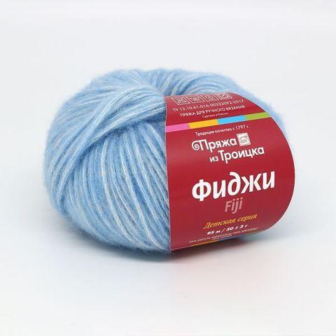 Пряжа Троицкая Фиджи 8522 светло-голубой
