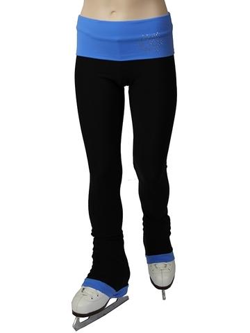 Термобрюки с широким поясом (голубой)