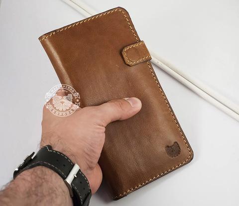 WB111 Мужской клатч на заказ из натуральной кожи на застежке
