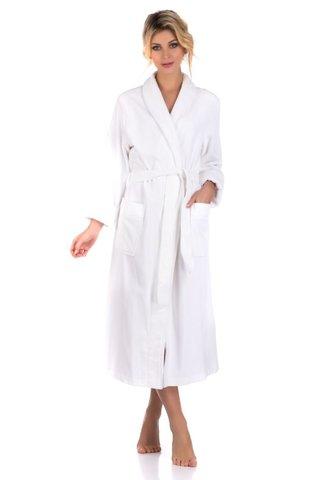 NATUREL 908 белый  бамбуковый  женский халат  PECHE MONNAIE  Россия