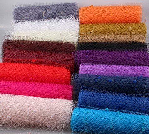 Вуаль сетка для шляп с мушками, ширина  25 см.(выбрать цвет)
