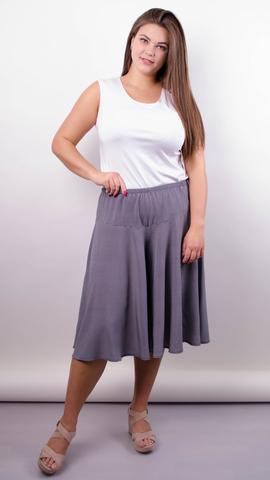 Лолита. Оригинальные шорты-юбка больших размеров. Черный+лапка.