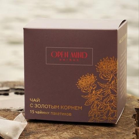 Open Mind, Чай с золотым корнем, 15 пакетиков