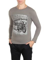 30198-5 футболка муж. с длинным рук. серая