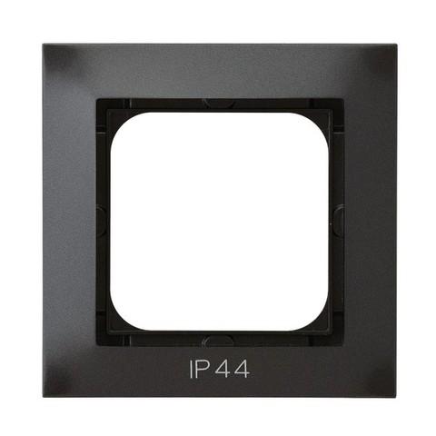Рамка на 1 пост для выключатель IP-44. Цвет Антрацит. Ospel. Impresja. RH-1Y/50