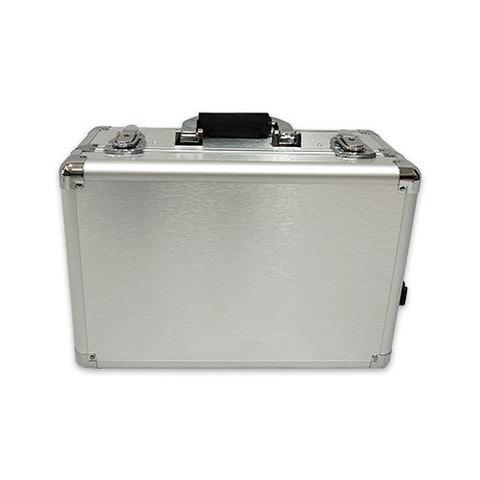 Бьюти кейс визажиста на колесиках (мобильная студия) LC019 Silver