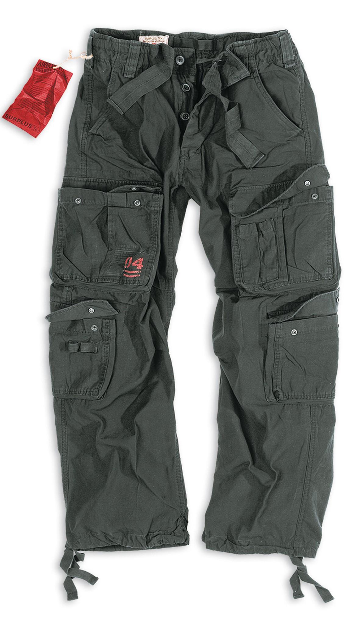 Штаны  Surplus Airborne Vintage (черные - black)
