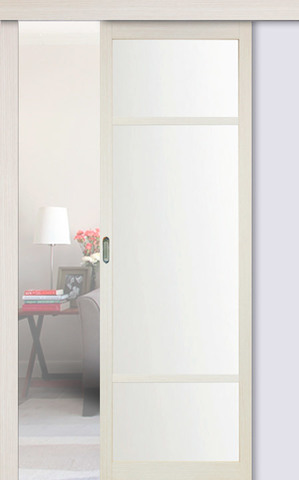 Перегородка межкомнатная Optima Porte 131.222, стекло матовое, цвет беленый дуб, остекленная (за 1 кв.м)
