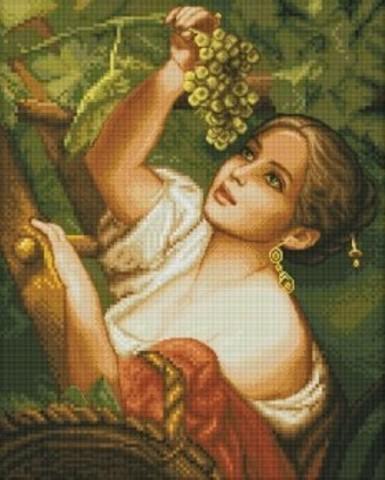 8113-23 Девушка с виноградом. Большая