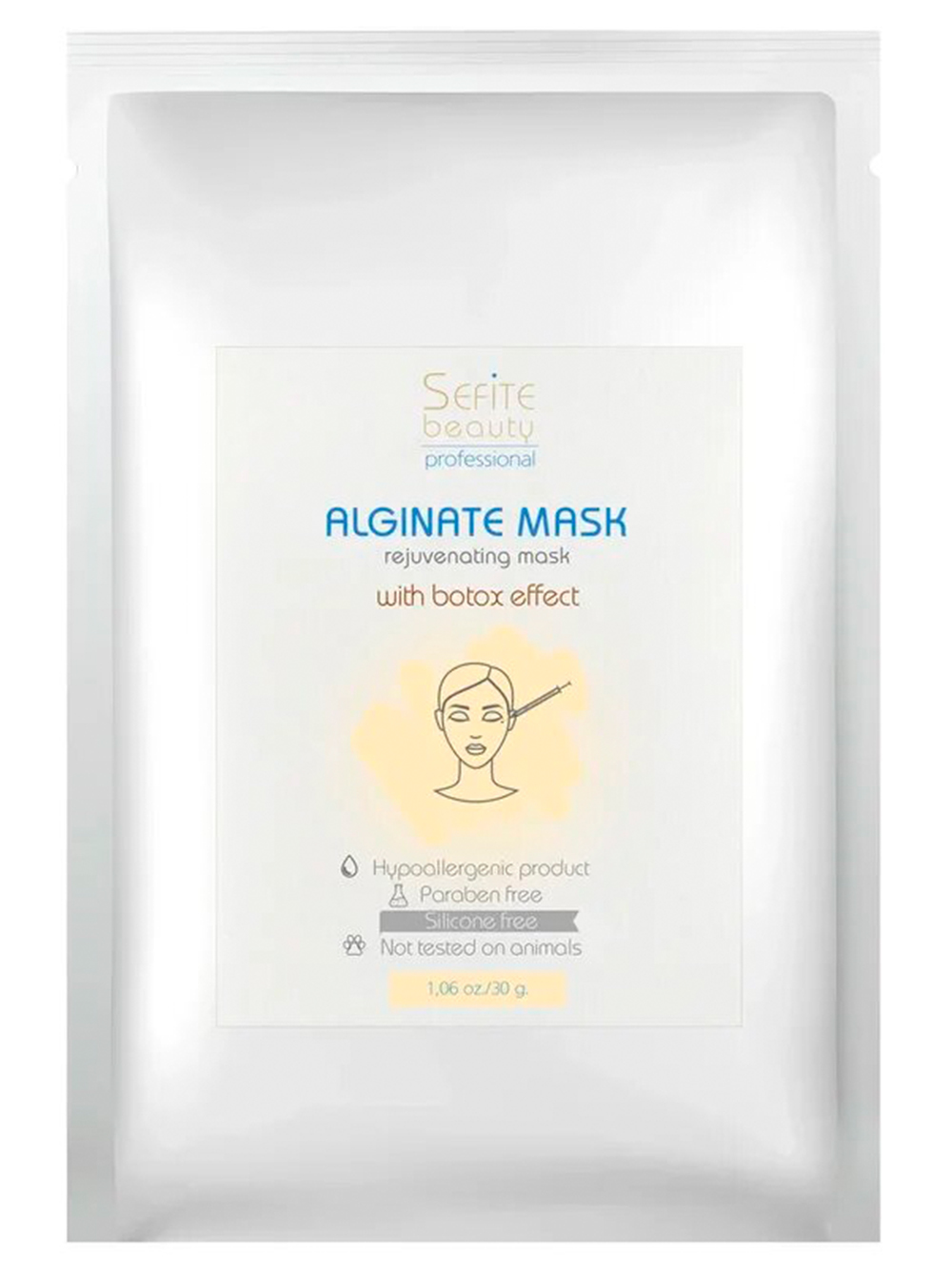 Антивозрастная альгинатная маска с эффектом ботокса, 30гр.