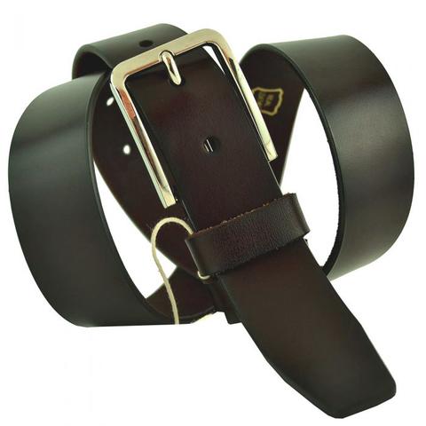 Ремень мужской тёмно-коричневый классический брючный 35 мм из кожи 35SVAR-002