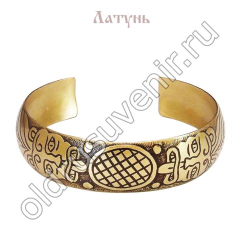 Браслет Старжи Львы - символ благородной власти, достатка, медь, 15 см