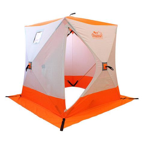 Зимняя палатка куб Следопыт 1,5*1,5 м Oxford 240D PU 2000 PF-TW-01/03 (белый/оранжевый)