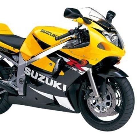 Набор наклеек на Suzuki GSX-R 600 2001 (желто - черный пластик)