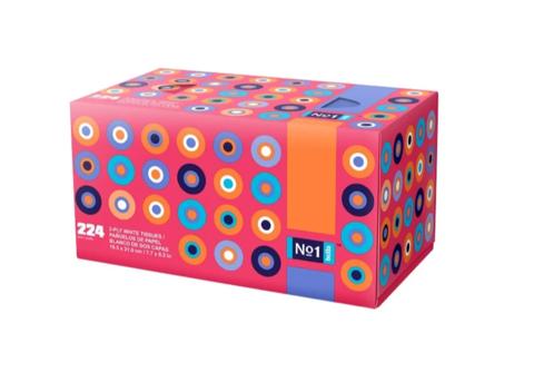 Салфетки бумажные сухие вытяжные в коробке (224 шт)