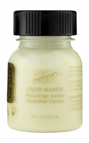 MEHRON Флуоресцентный жидкий грим Liquid Makeup, Glow-in-the-Dark (Светящийся в темноте)