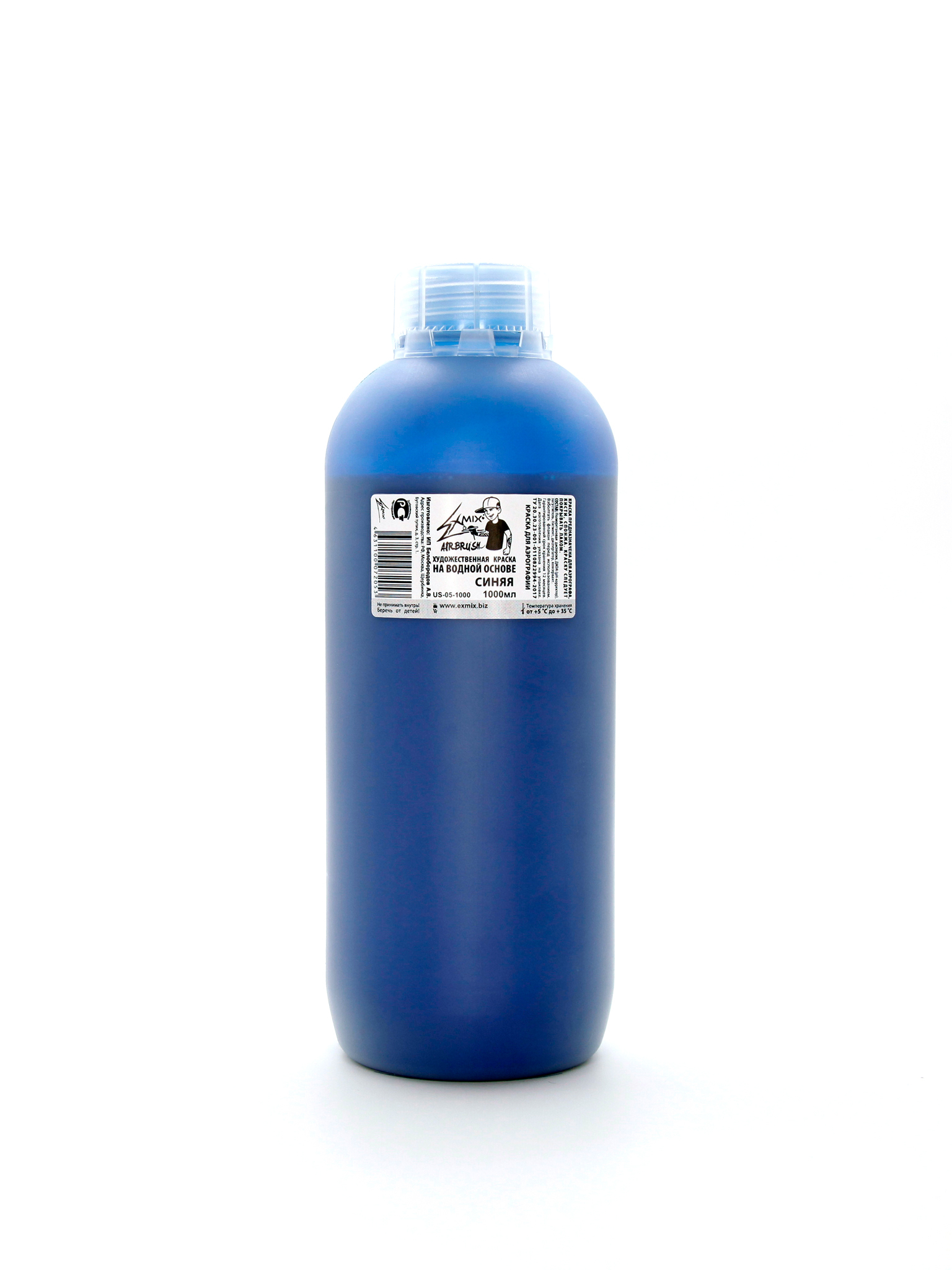 Exmix Краска укрывистая Exmix 05 Синий 1000 мл US-05-1000.jpg