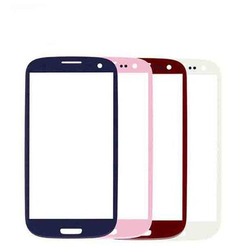 Стекло для Samsung GT-I9300 Galaxy S3, Белое/Черное/Розовое/Синие/Серое/Бордовое