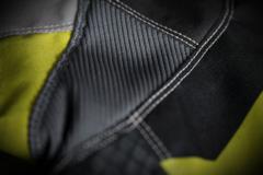 Мотокуртка - ICON OVERLORD (текстиль, серо-салатовая)