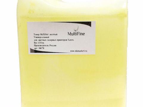Универсальный желтый тонер MultiFine для цветных лазерных принтеров Xerox 7100/7500/7800. Вес 850 грамм. (48 000 страниц)