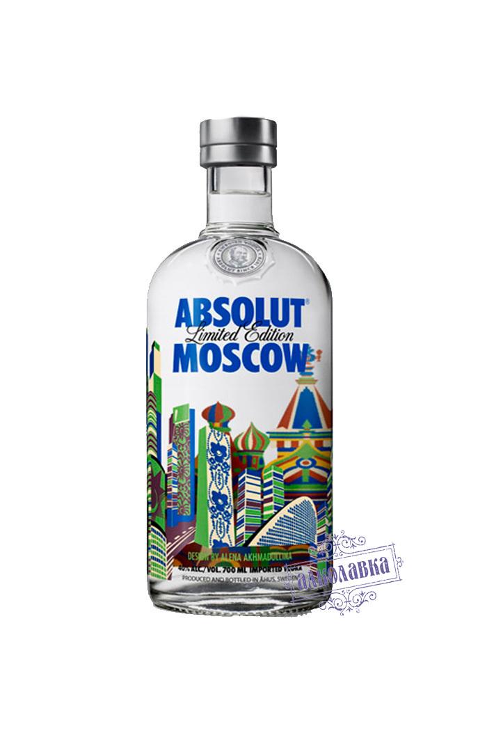 Абсолют. СЕРИЯ MOSCOW 40%. 0.7 Л