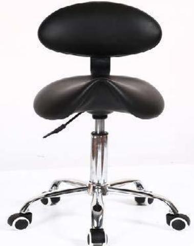 Ортопедический стул-седло мастера тату со спинкой RC1610