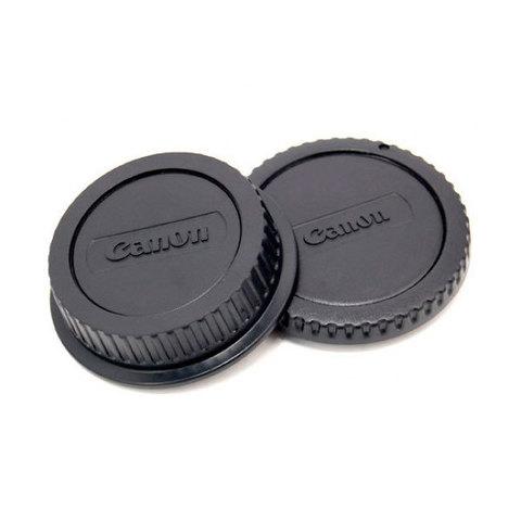 Набор крышек Fujimi для байонета фотоаппарата и задняя крышка объектива Canon