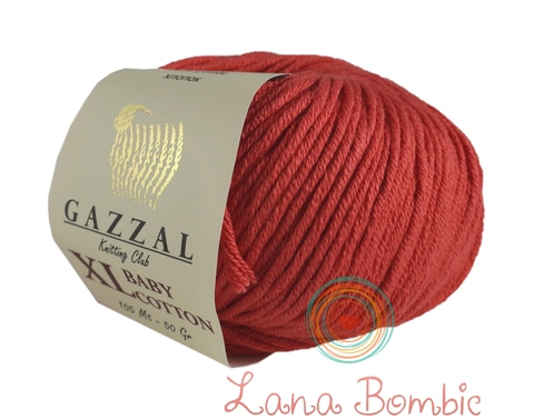 Пряжа Gazzal Baby Cotton XL коралловый 3418