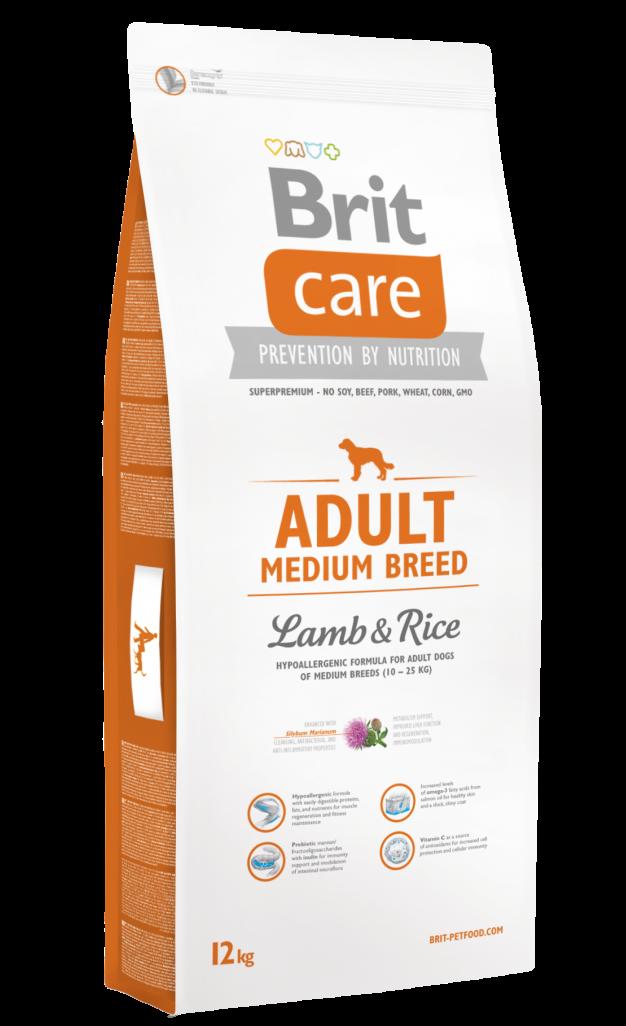 Brit Корм для собак средних пород, Brit Care Adult Medium Breed, с ягненком и рисом Brit-Care-Adult-Medium-Breed-Lamb-and-Rice-12kg.png