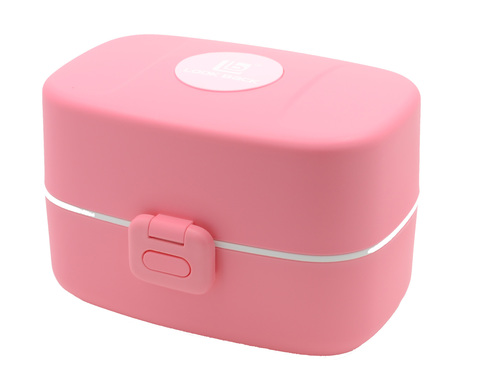 Ланч-бокс Look Back Bento Box розовый