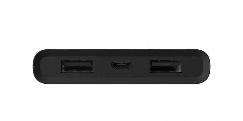 Дополнительный внешний аккумулятор GoPro Portable Power Pack (AZPBC-001) вид сбоку порты