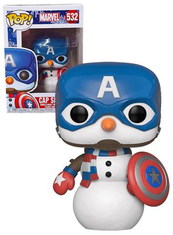 Cap Snowman Funko Pop! Vinyl Figure || Снеговик Капитан Америка